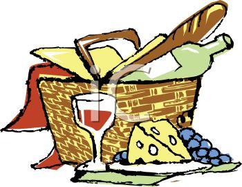 350x270 Cool Picnic Basket Clipart Cartoon Clip Art Graphics