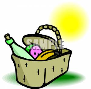 300x293 Picnic Basket With Wine And Fruit