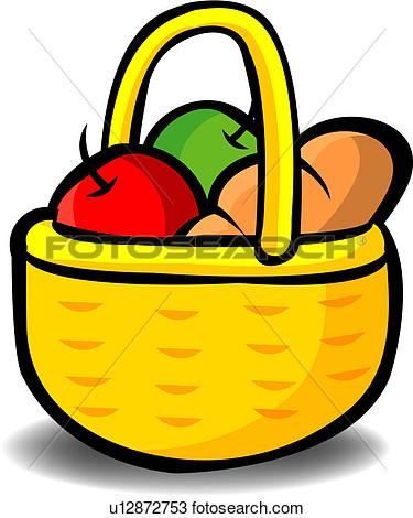 375x470 Basket Of Food Clipart Clip Art Picnic Basket Food Clipart 2