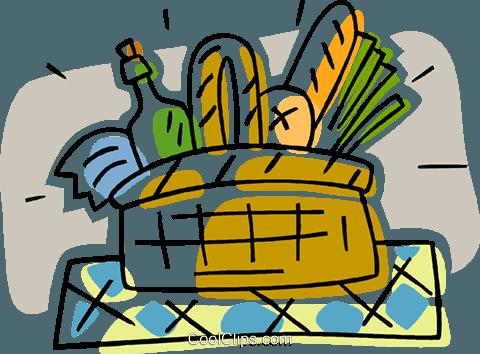 480x354 Picnic Basket Royalty Free Vector Clip Art Illustration Vc006336