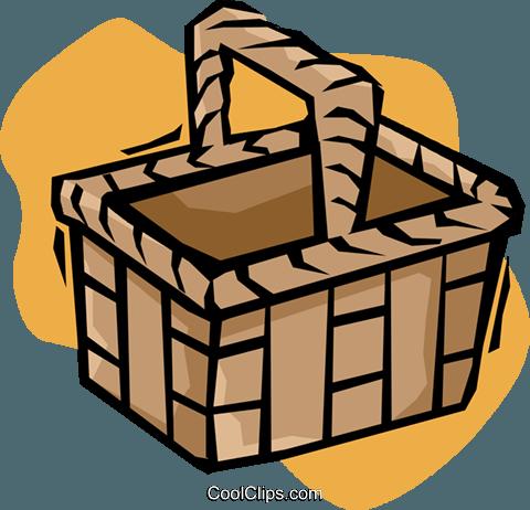 480x462 Picnic Basket Royalty Free Vector Clip Art Illustration Vc020183