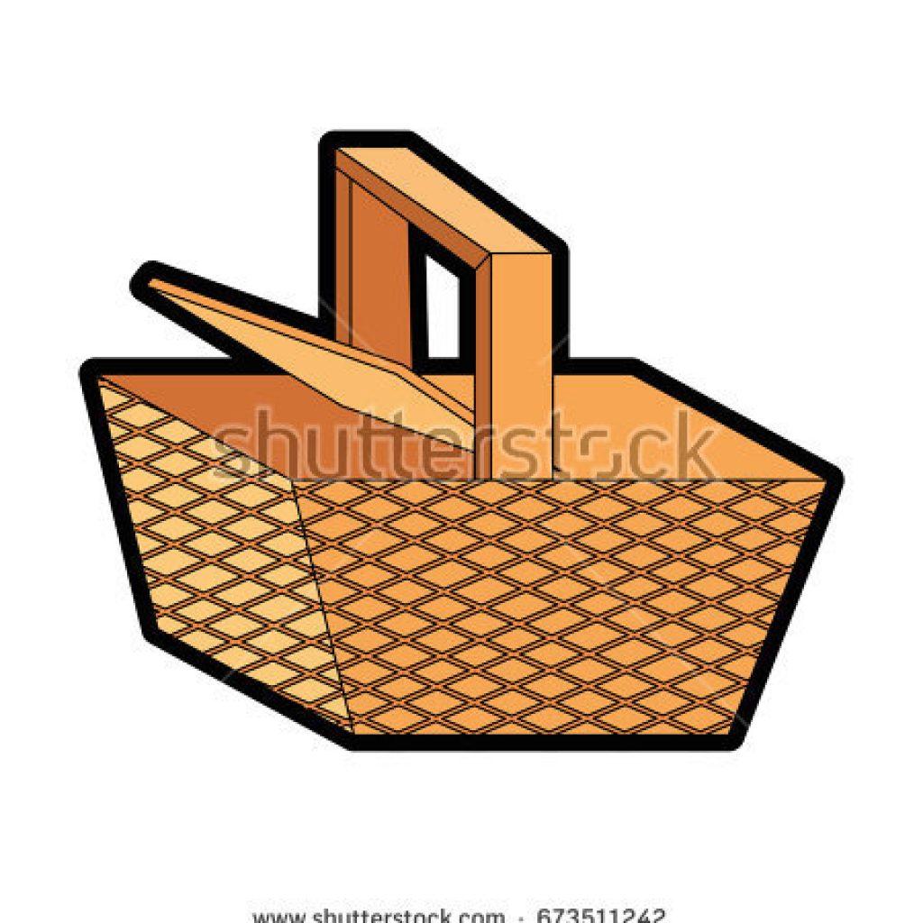 1024x1024 Cartoon Picnic Basket Fall Clipart