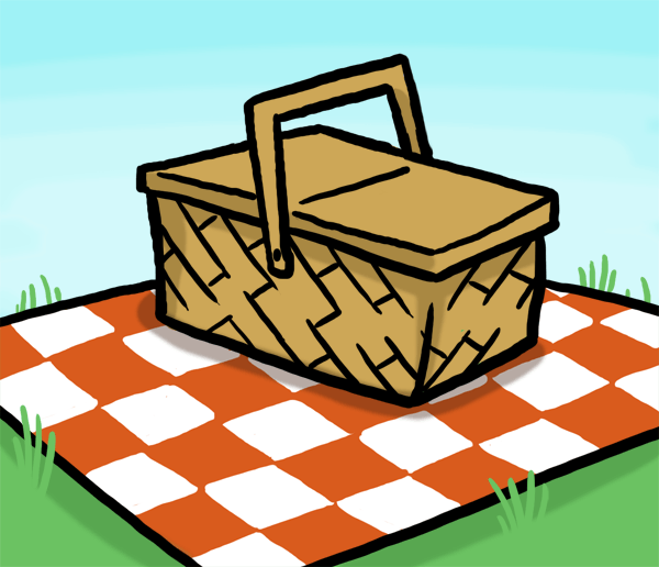 600x516 Peaceful Ideas Picnic Basket Clipart Clip Art At Clker Com Vector