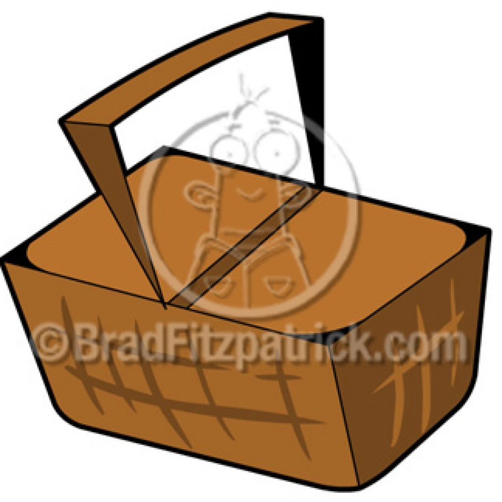 1024x1024 Cartoon Picnic Basket Fall Clipart