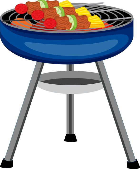 589x713 Picnic Table With Food Clipart