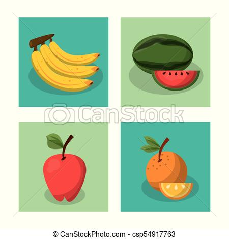 450x470 White Background With Frames Of Picnic Elements With Fruits