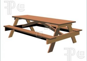 300x210 Picnic Table Clipart 4