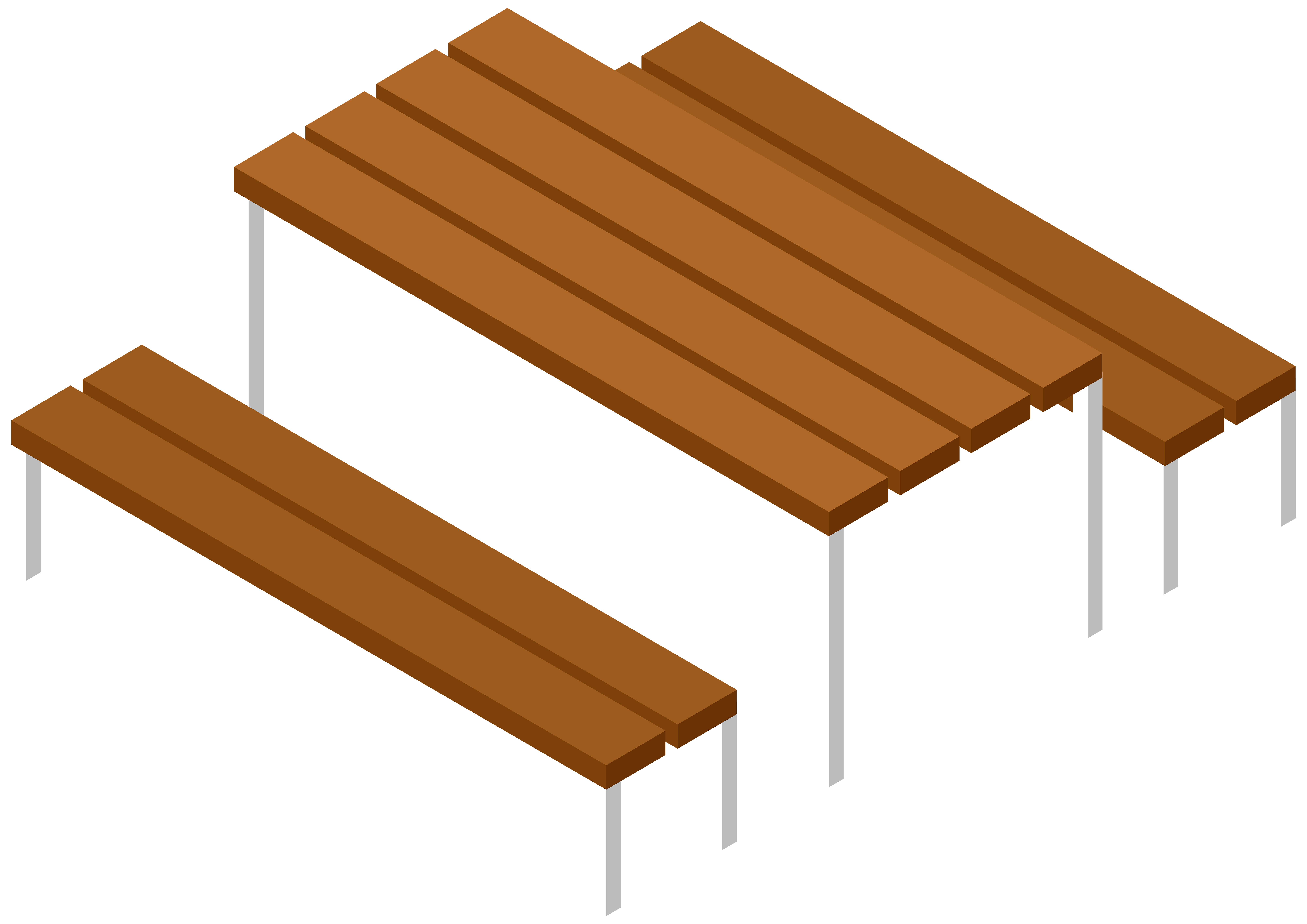 8000x5657 Picnic Table And Bench Transparent Clip Art Imageu200b Gallery