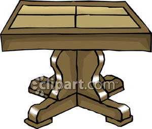 300x254 Dining Room Table Clipart