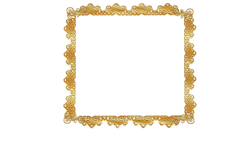 1440x900 Gold Scroll Frame Clip Art Clipart Panda