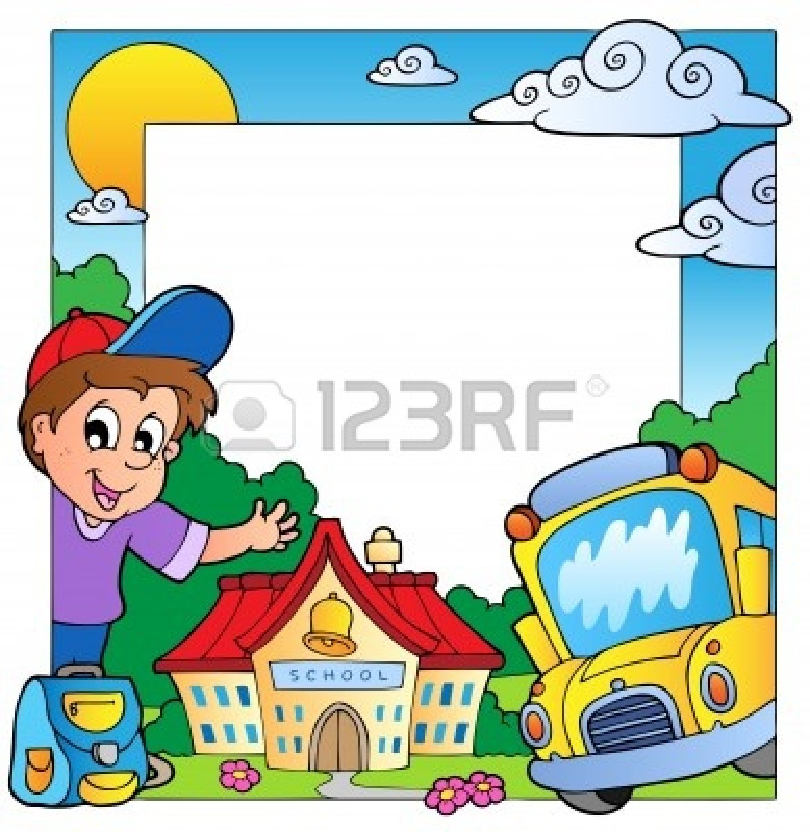 1167x1200 Clip Art Borders And Frames For School Frame Clipart Education