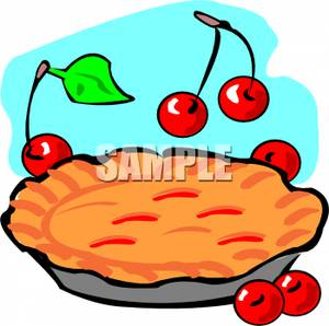 300x298 Cherries Next To A Cherry Pie