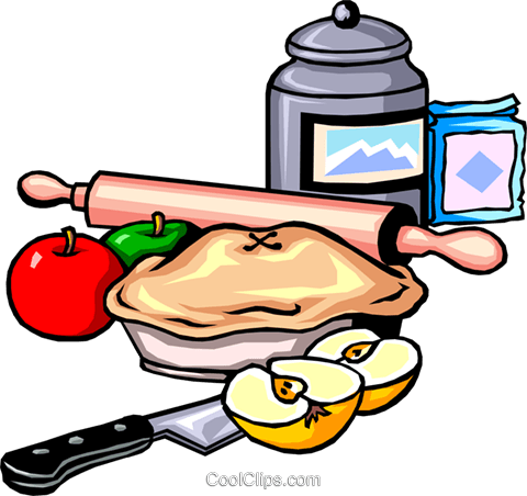 480x452 Apple Pie Clip Art Free Apple Pie Ingredients Royalty Free Vector