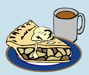 300x253 Apple Pie And Coffee Clip Art Free Vector 4vector