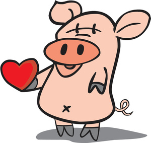 300x284 Free Pig Clipart Image 0527 1605 0509 1946 Valentine Clipart