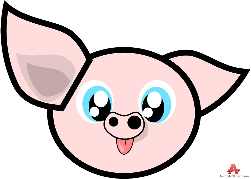 999x712 Free Wacky Pig Face Avatar Clip Art