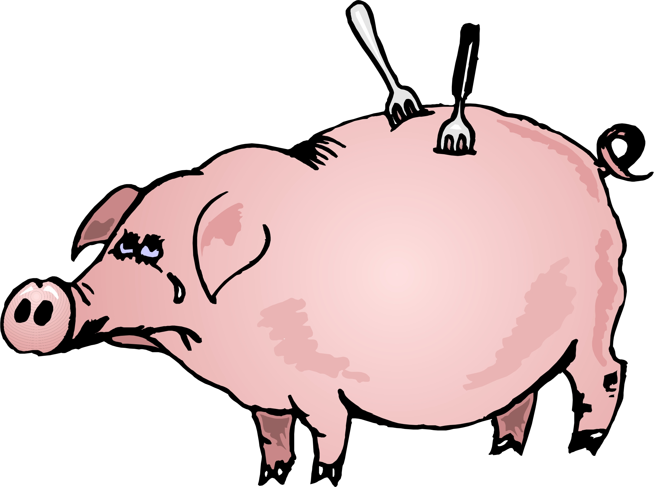 2161x1610 Cartoon Pig Clipart