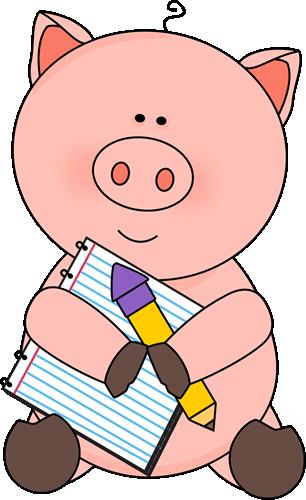 306x500 Pig Clip Art