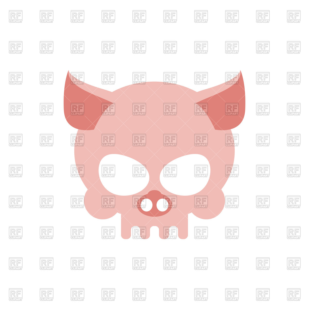 1200x1200 Pig Skull Isolated Royalty Free Vector Clip Art Image