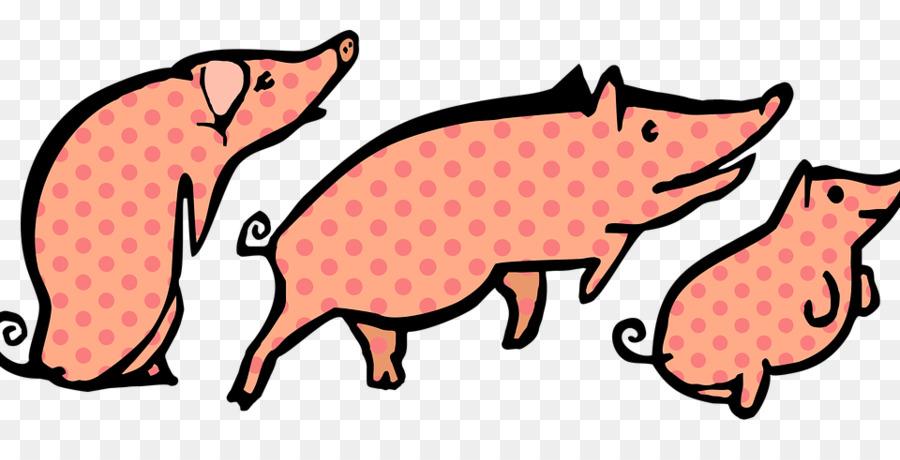 900x460 Three Little Pigs Clipart