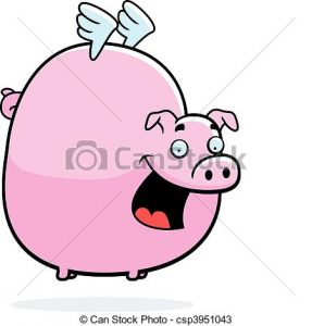 287x300 Flying Pig Clipart Pig Flying A Happy Cartoon Pig With Wings