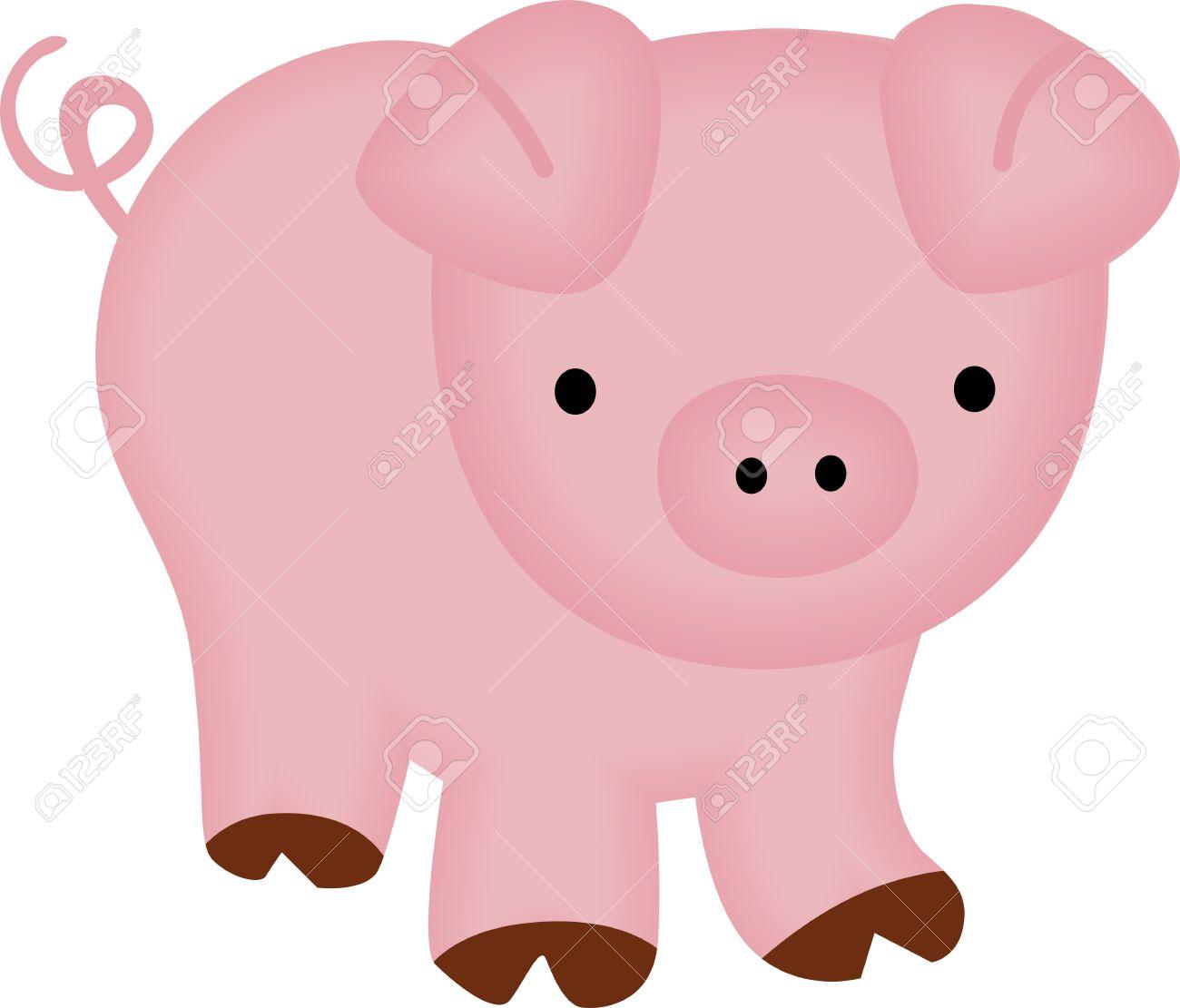 1300x1111 Clip Art Clip Art Of A Pig