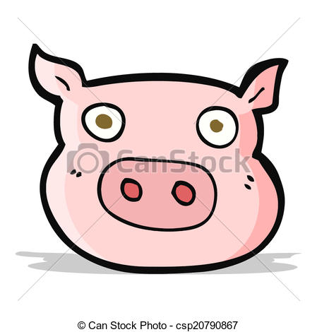 449x470 Cartoon Pig Face Clip Art Vector