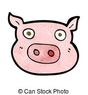 179x194 Cartoon Pig Face Vectors