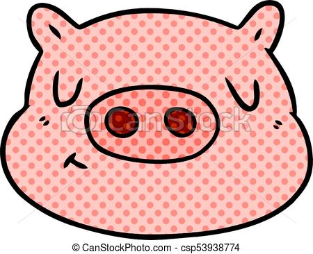 450x366 Cartoon Pig Face Vectors Illustration