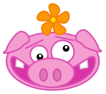 360x319 Pig Face Cartoon