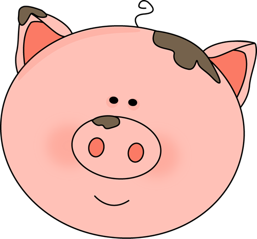 500x466 Pig Face With Mud Images Clip Art, Face Painting