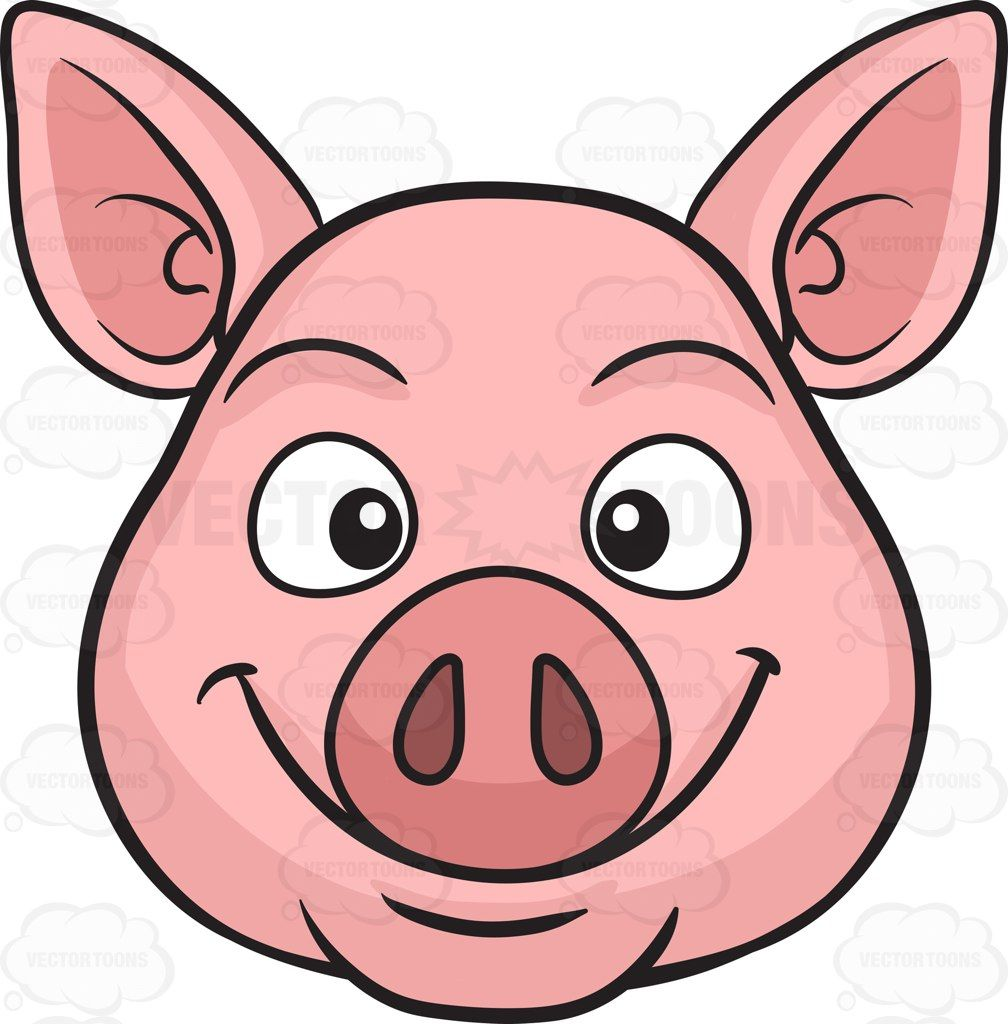 1008x1024 A Smiling Pig Cartoon And Pig Art