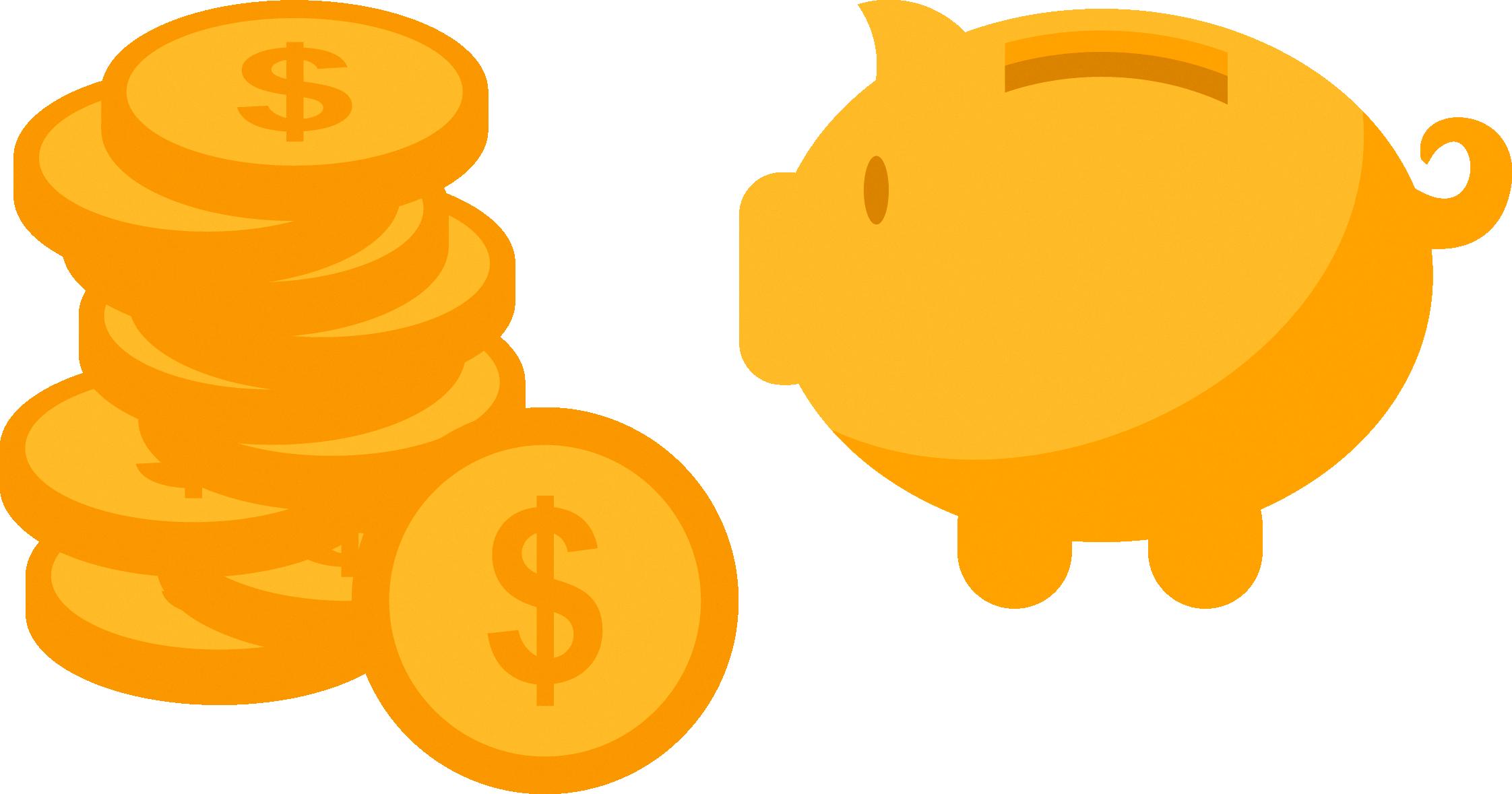 2244x1179 Domestic Pig Piggy Bank Clip Art
