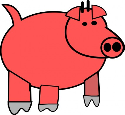 425x393 Pig Cartoon Clip Art Download