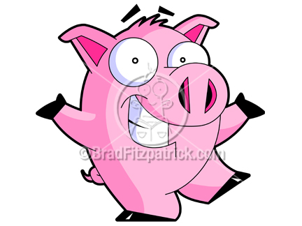432x324 Cartoon Pig Clipart Character Royalty Free Pig Picture Licencing.