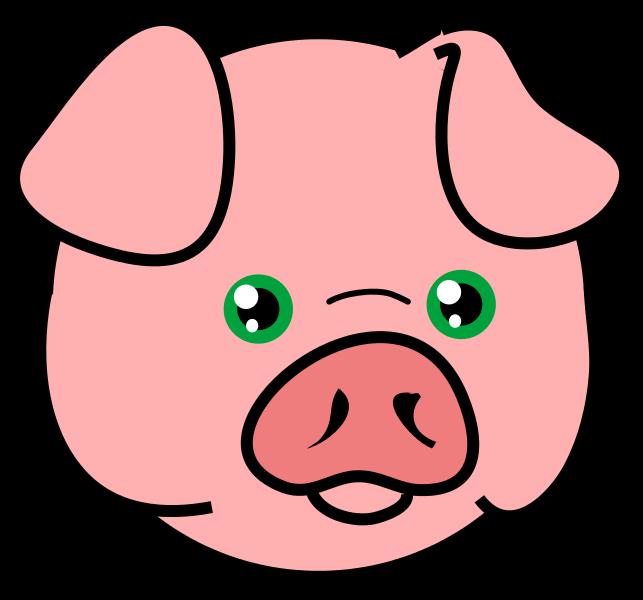 643x600 Piglet Head Cliparts