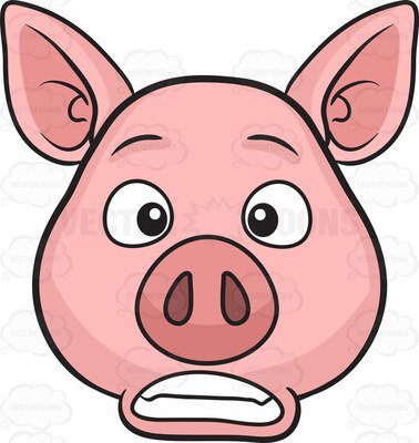 378x400 Pretty Design Clipart Pig A Bored Cartoon Vector Toons Piggy Bank
