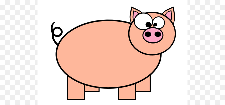 900x420 Domestic Pig Pig Roast Cartoon Clip Art
