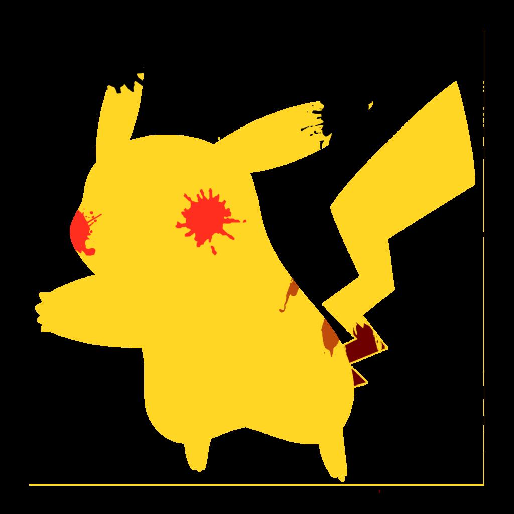 1024x1024 Pikachu 3 Paint Splatter Graphics By Hollyshobbies