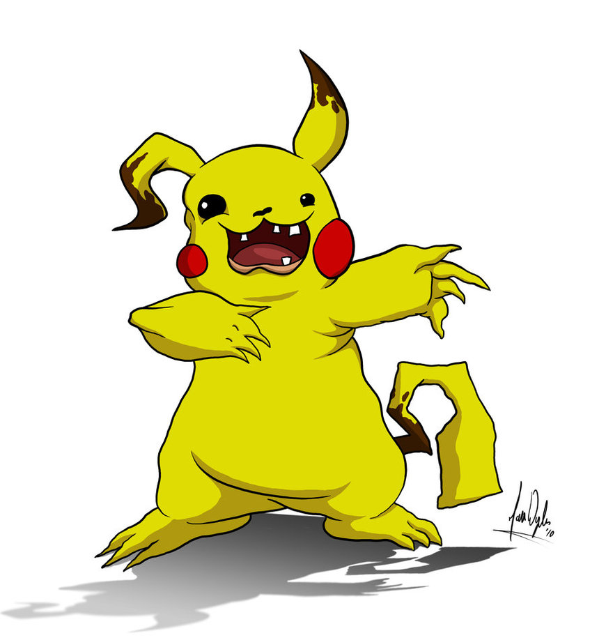 870x918 Wrongly Evolved Pikachu By Zones Productions