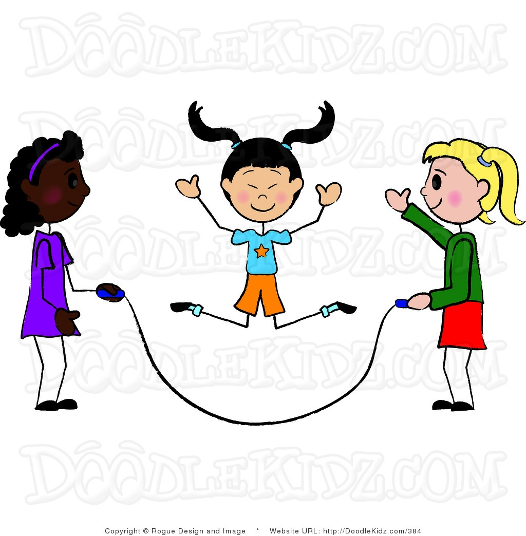 1024x1044 Kids Jumping Rope Clipart