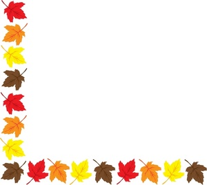 300x268 Autumn Leaves Border Clip Art Clipart