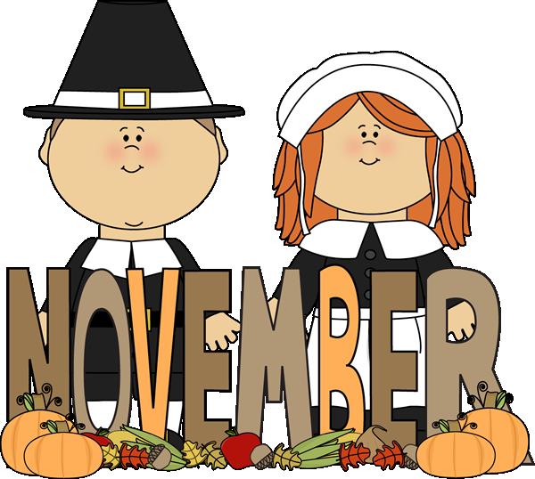 600x538 Free Month Clip Art Month Of November Pilgrims Clip Art Image