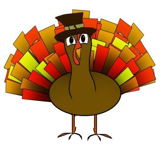 533x480 Cute Happy Thanksgiving Clip Art Cute Colorful Turkey