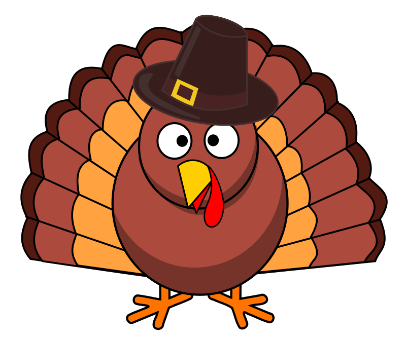 800x669 Free Clipart Turkey With Brown Hat Pippi2011