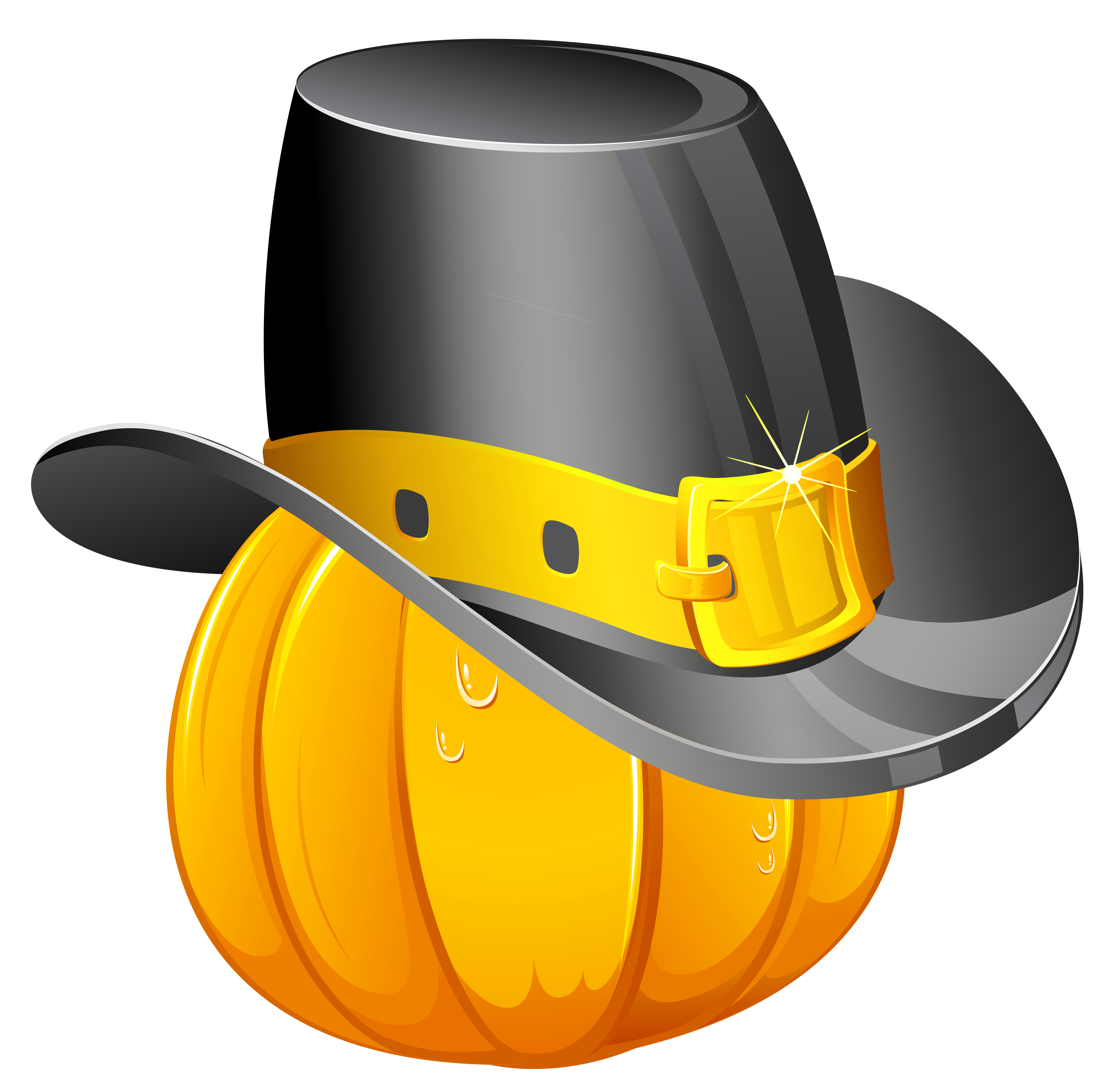 3827x3786 Thanksgiving Pumpkin With Pilgrim Hat Png Clipartu200b Gallery