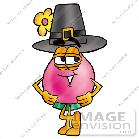 450x450 Clip Art Graphic Of A Pink Vase And Yellow Flowers Cartoon
