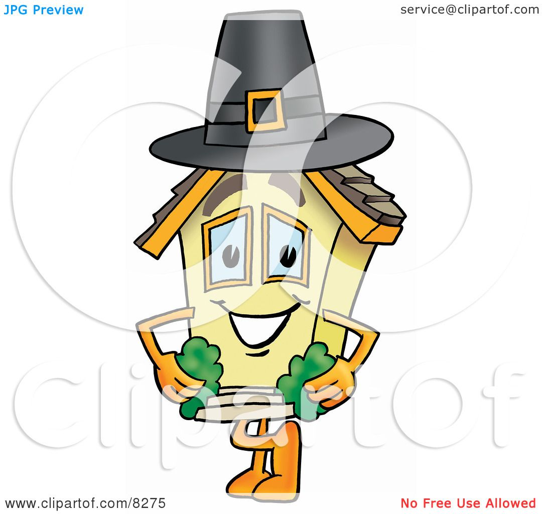 1080x1024 Clipart Picture Of House Mascot Cartoon Character Wearing