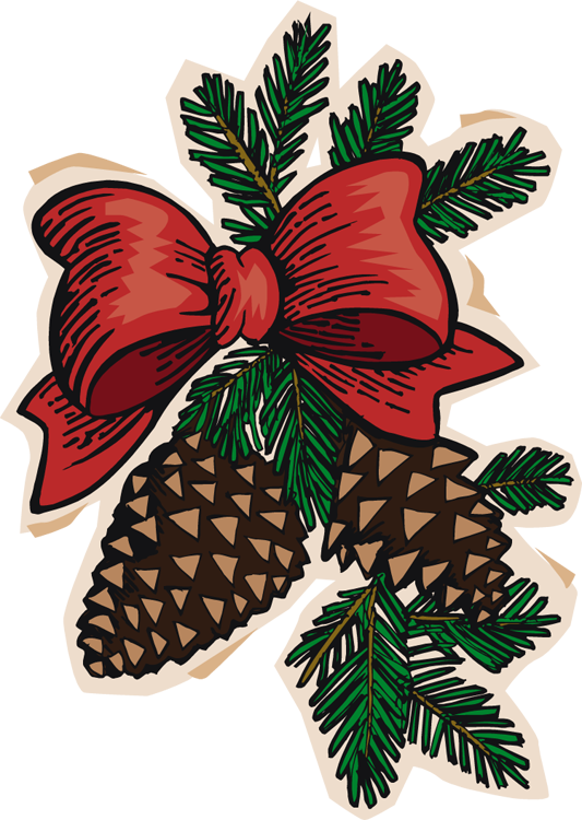 533x750 Christmas Pinecone Clipart