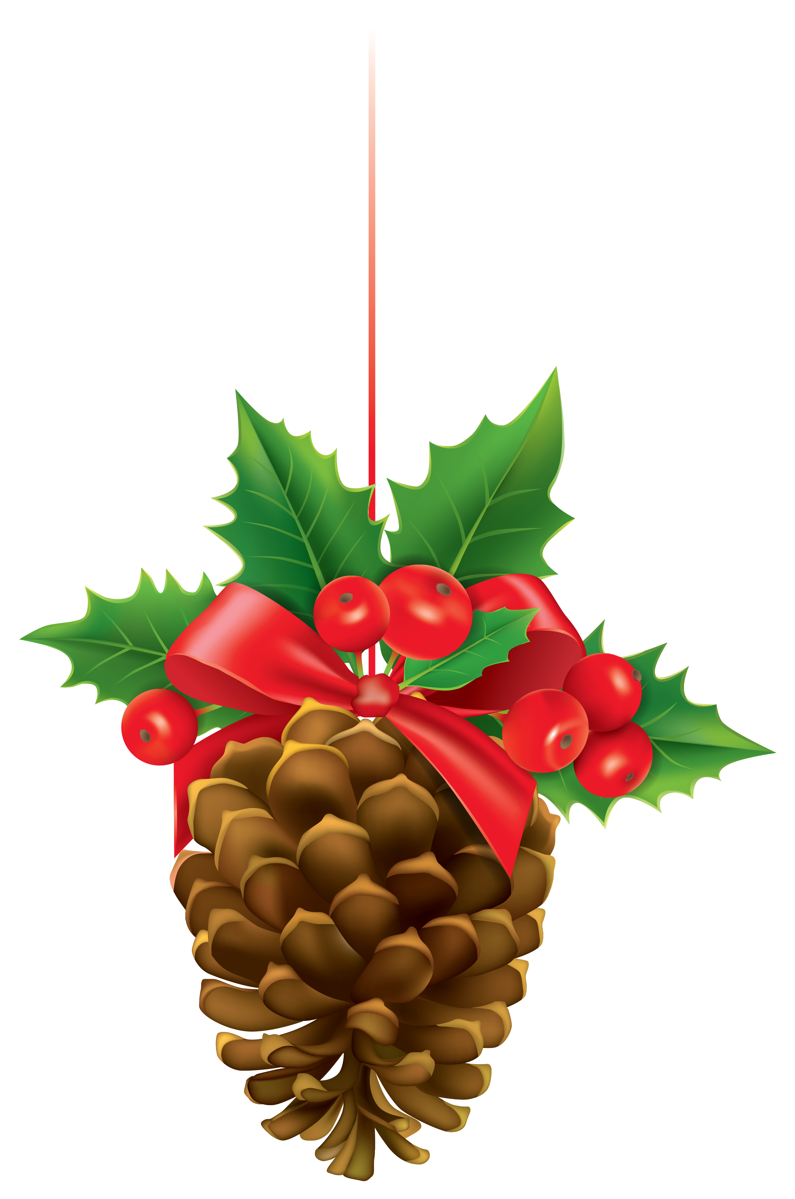 2672x4026 Christmas Pinecone With Mistletoe Png Clipart Imageu200b Gallery